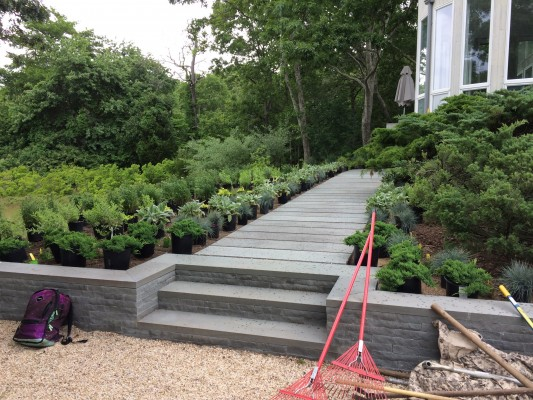 East Hampton Front Entrance Makeover